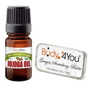 BodyJ4You Jojoba Oil For Stretched Ear Lobe