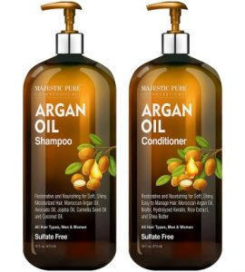 Argan Oil Shampoo and Conditioner, from Majestic Pure