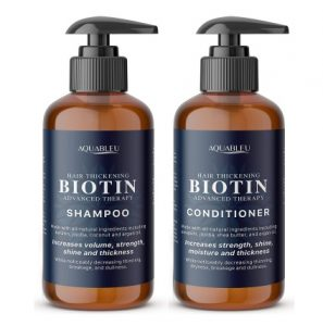 Aquableu Biotin Shampoo and Conditioner Set